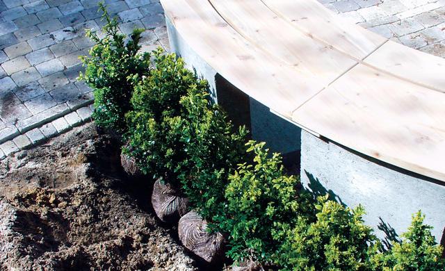 Полукруглая садовая скамья своими руками