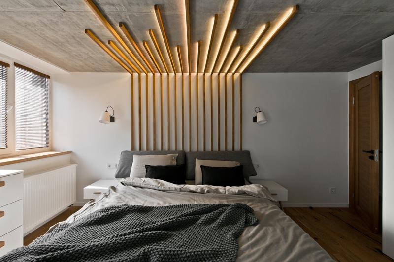 Деревянные панели с подсветкой