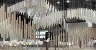 Презентация скульптурных свойств алюминия в дизайне павильона Alumafel