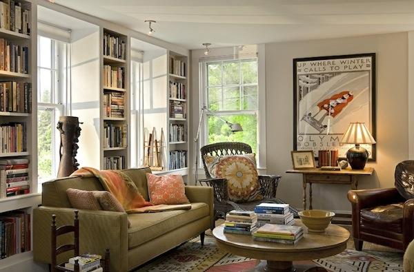Восхитительный дизайн интерьера домашней библиотеки