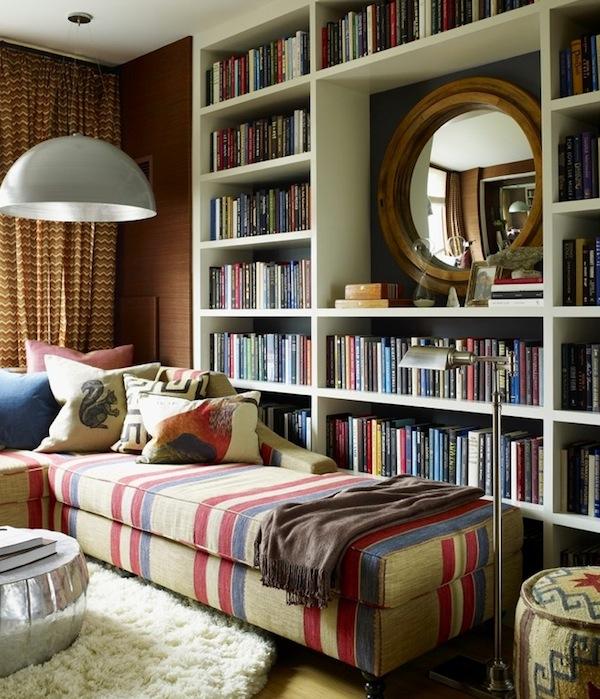 Чудесный дизайн интерьера домашней библиотеки