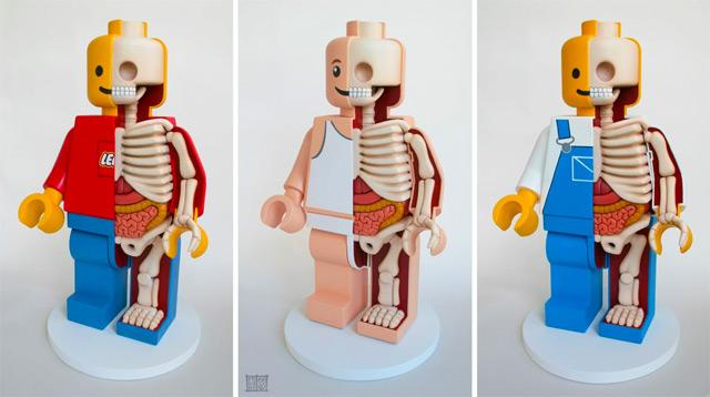 Забавная анатомия Lego Men от Джейсона Фрини