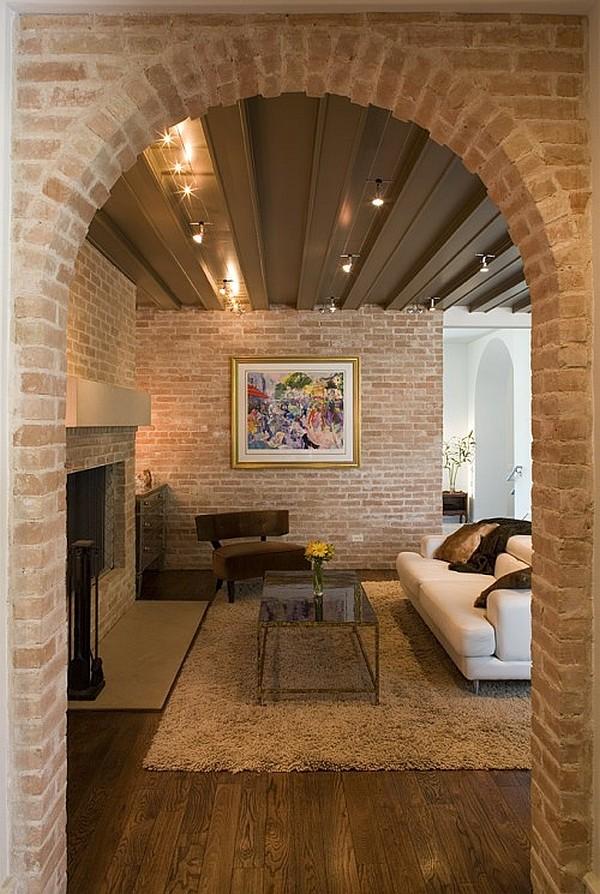 Кирпичная стена в интерьере квартиры - выбор европейских диз.