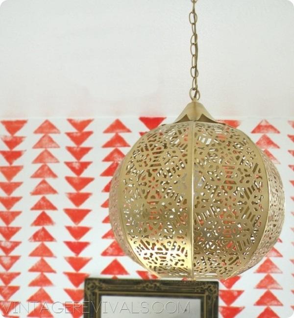 Оригинальный подвесной светильник в интерьере