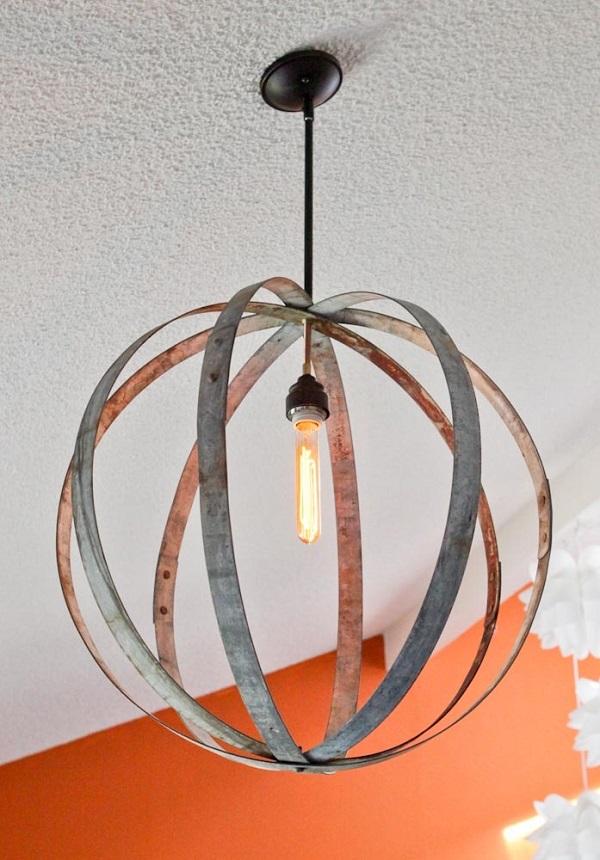 Роскошный подвесной светильник в интерьере