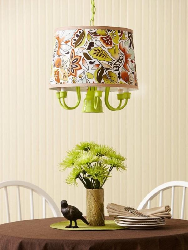 Уникальный подвесной светильник в интерьере
