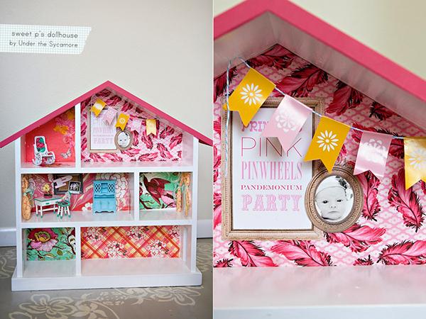 Яркий кукольный домик для детей