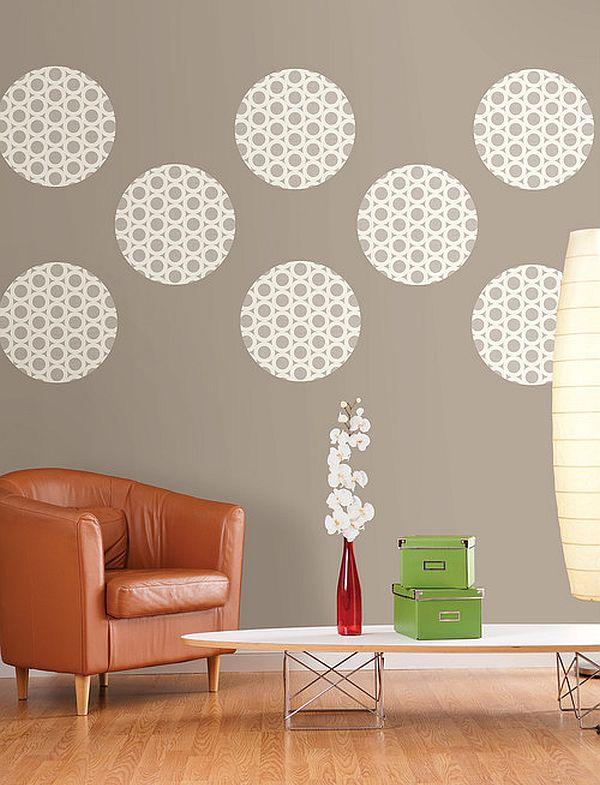 Узоры на стене в интерьере