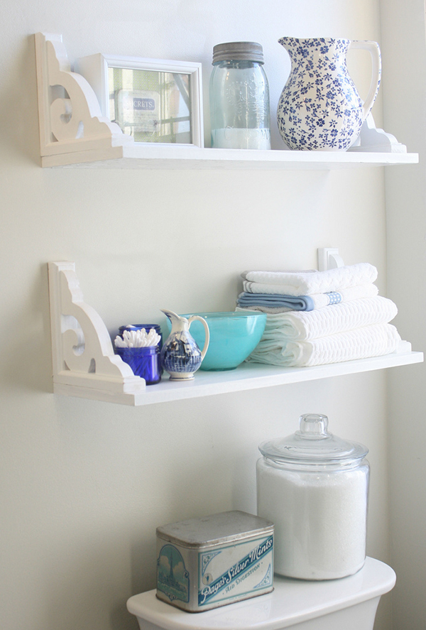 Bathroom shelves india