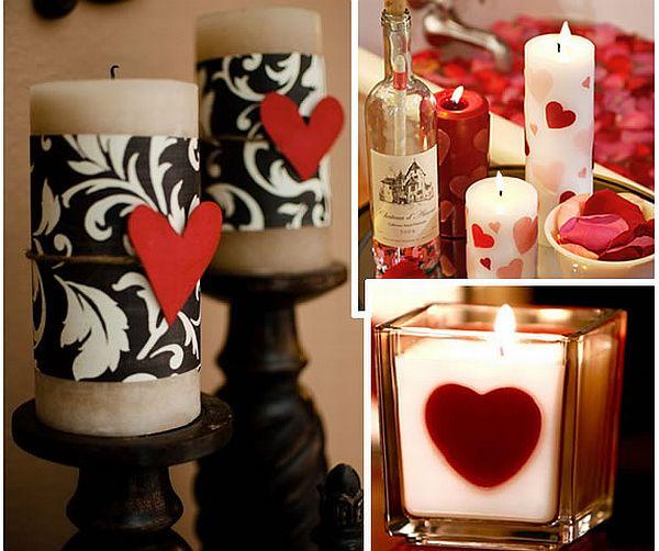 Velas románticas de bricolaje para un ambiente relajante.