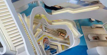 Дизайн большой лестницы в Австралии