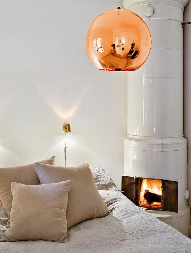 Интерьер квартиры с золотым декором