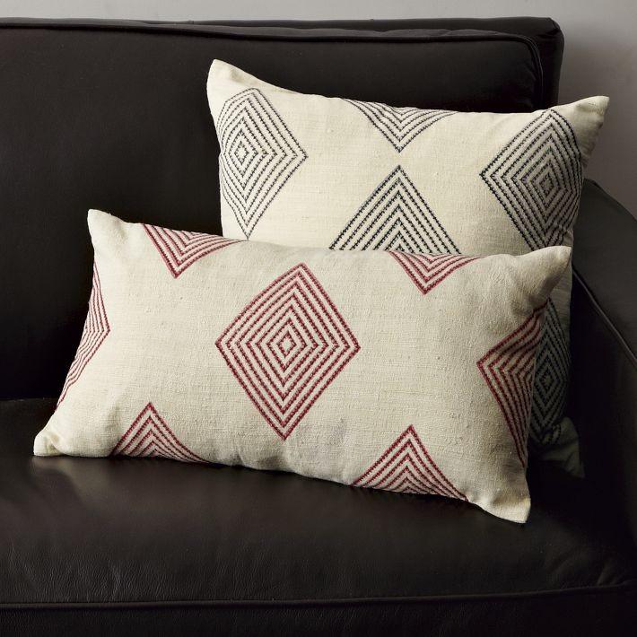 Оригинальные подушки с геометрическим узором