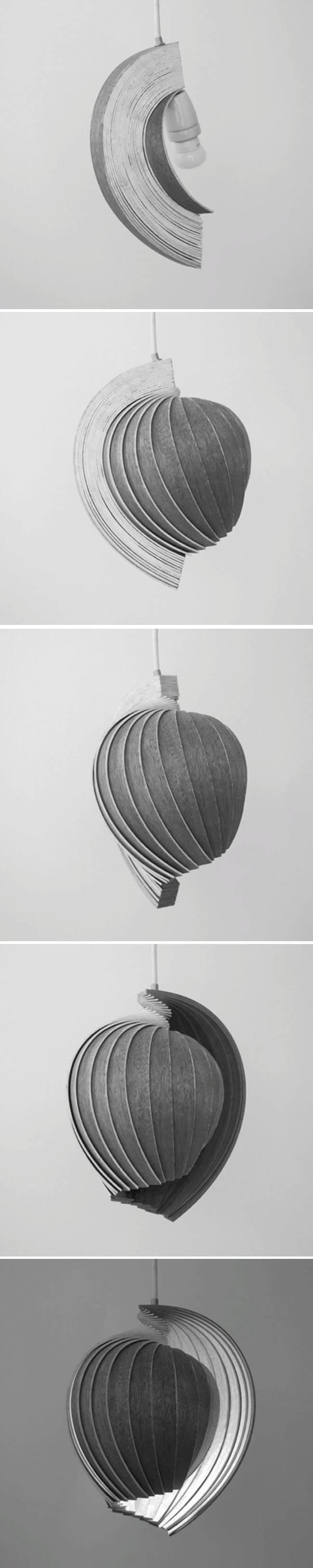Дизайн лампы из дерева от Kovac Family - Фото 1