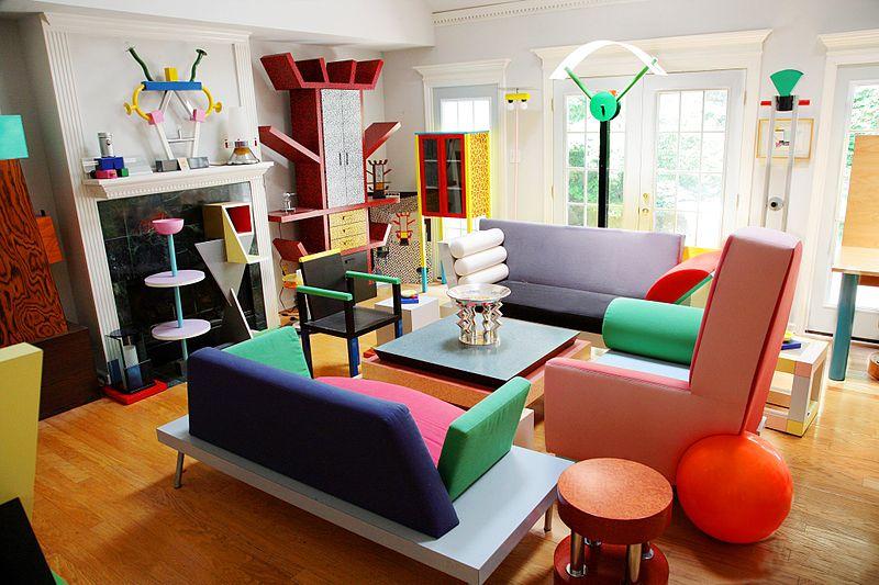 Дизайн мебели в стиле Мемфис в интерьере