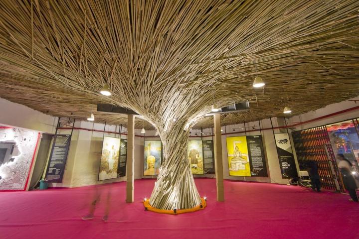 Необычная конструкция в дизайне павильона