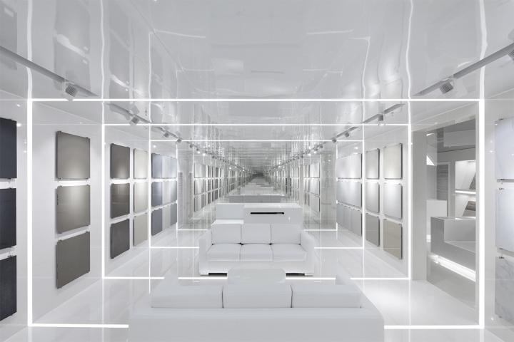 Дизайн белого выставочного центра