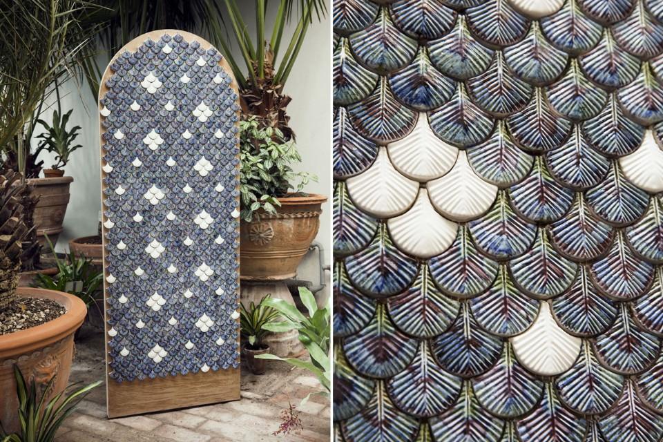 Кристины Селестино: декоративная плитка в виде перьев