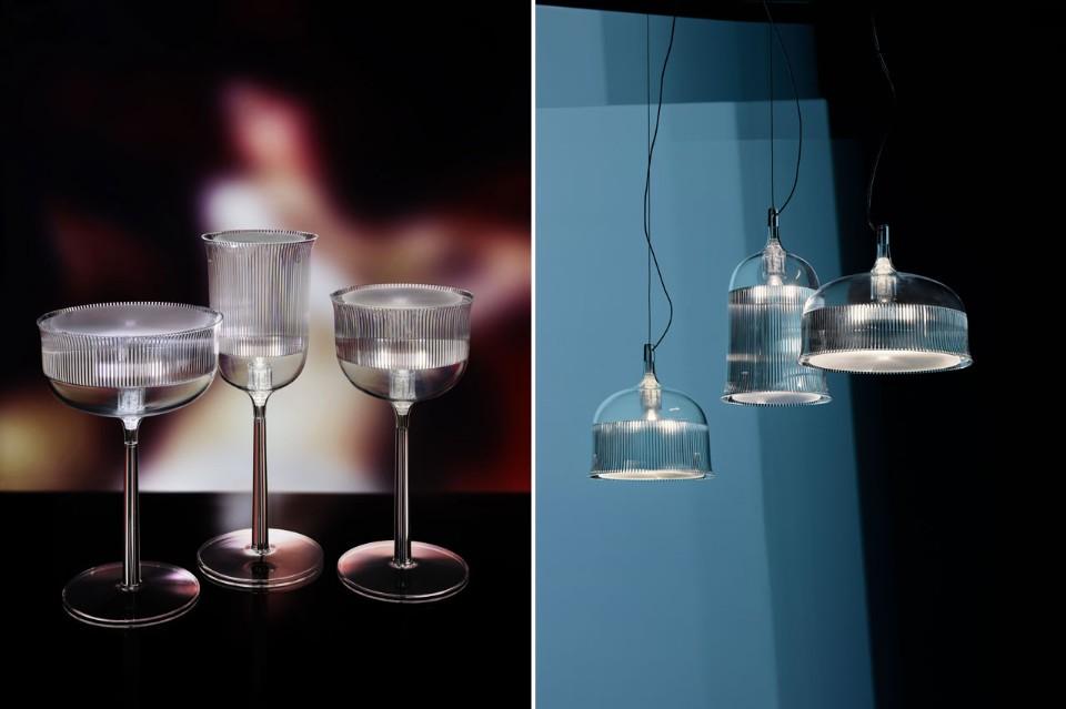 Стефано Джованнони: бокалы и люстры одинаковой формы