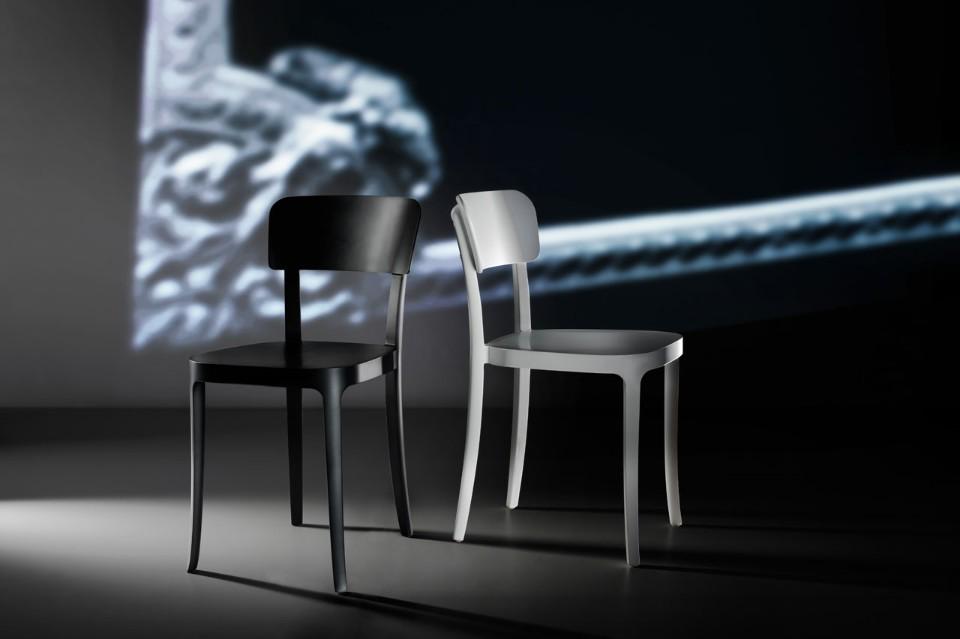 Стефано Джованнони: чёрный и белый стул