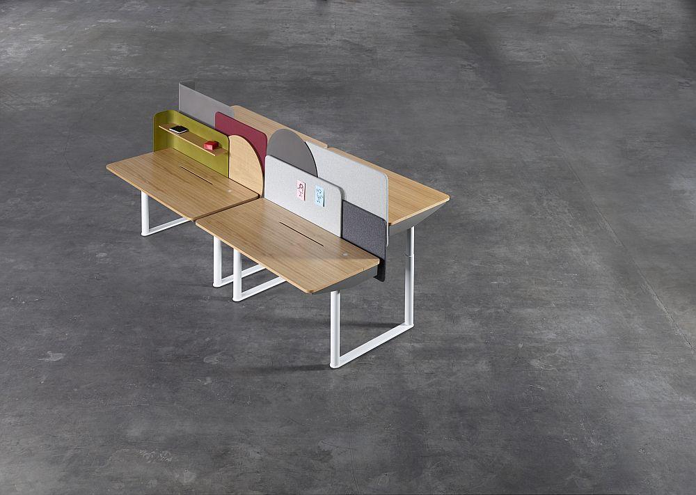 Дизайнерская мебель для офиса - деревянные регулируемые столы