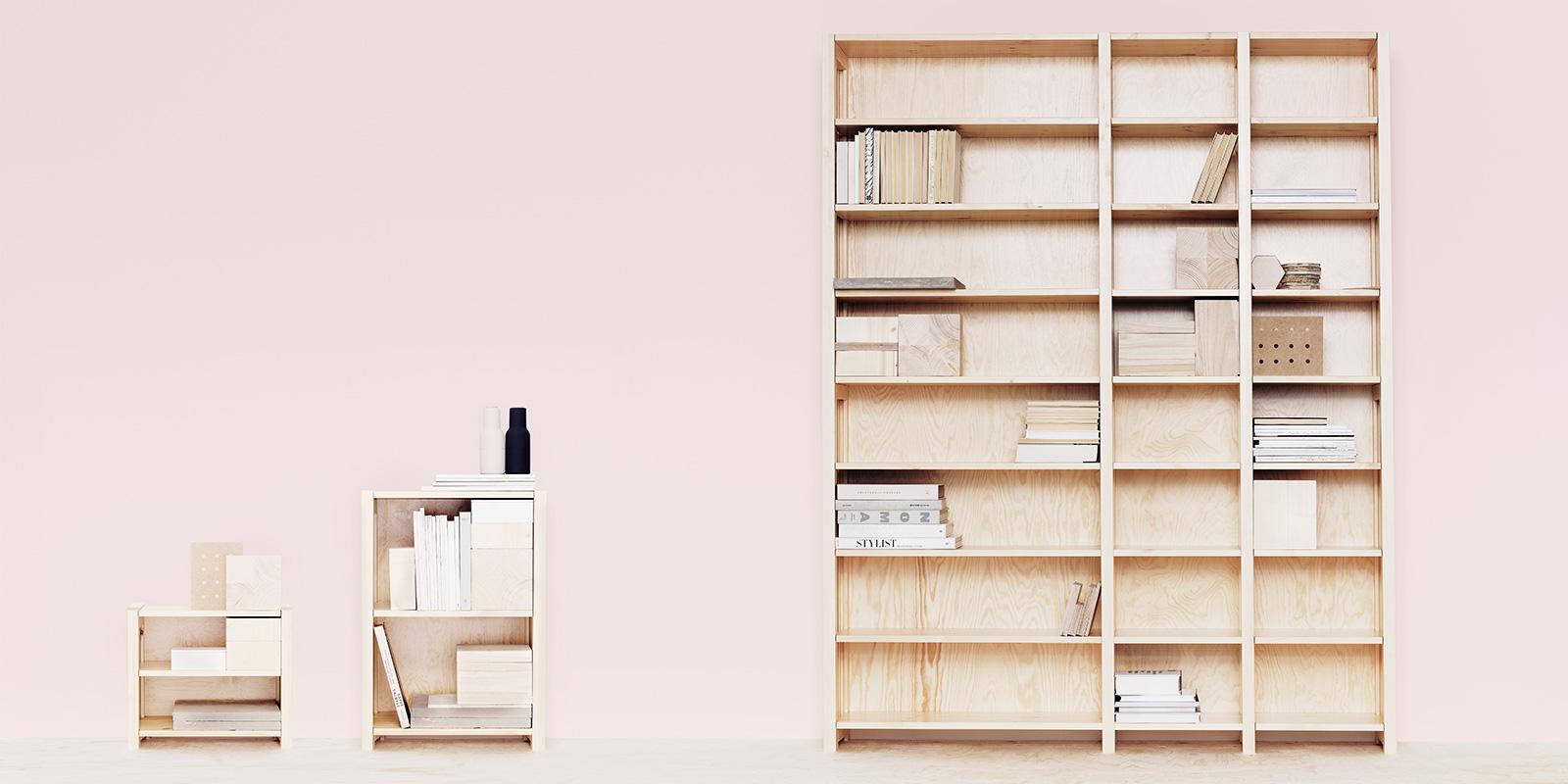 Дизайнерская мебель для офиса - деревянный стеллаж