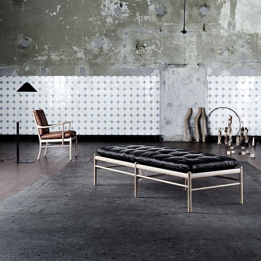 Дизайнерская мебель для офиса - черная кушетка