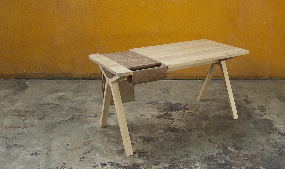 Дизайнерская мебель для офиса - рабочий дубовый стол