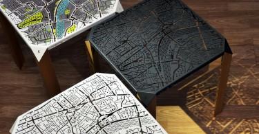 Воспоминания о любимых улицах: дизайнерские журнальные столики от Flying Cavalries