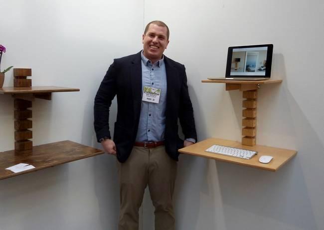 Настенный дизайнерский деревянный стол от Мэтта Герети