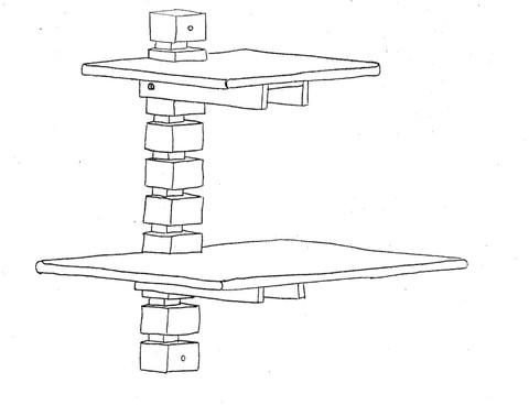 Схема дизайнерского деревянного стола от Мэтта Герети