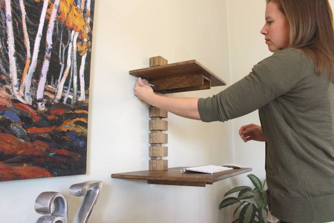 Крепление дизайнерского деревянного стола от Мэтта Герети