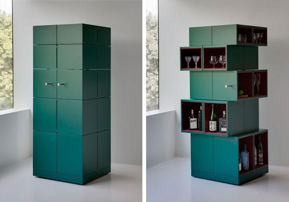 Дизайнерский шкаф в интерьере дома
