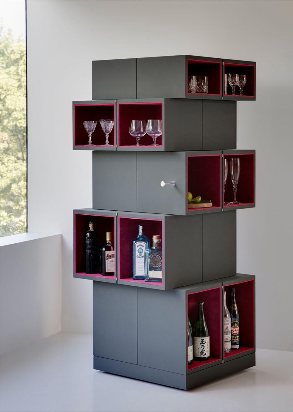 Дизайнерский шкаф в интерьере дома: версия шкафа для напитков