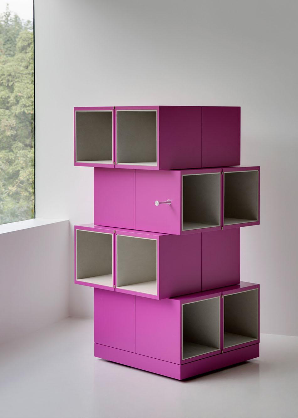 Дизайнерский шкаф в интерьере дома: высота шкафа Cubrick Sixteen - 130 см