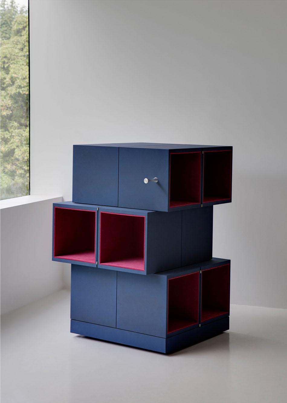 Дизайнерский шкаф в интерьере дома: высота шкафа Cubrick Twelwe – 100 см