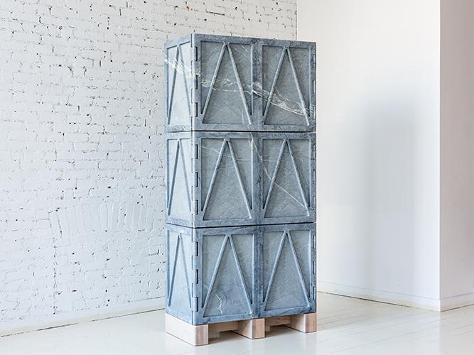 Дизайнерские коллекции мебели  - Qualities of Material от Fort Standard. Шкаф