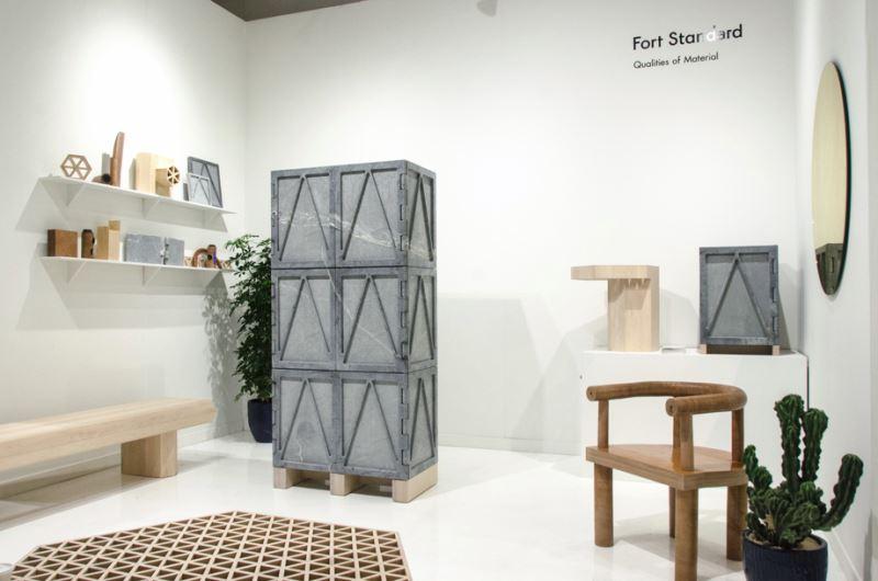 Дизайнерские коллекции мебели  - Qualities of Material от Fort Standard. Шкаф на выставке
