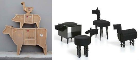 Дизайнерские предметы интерьера: необычные пуфики в виде животных