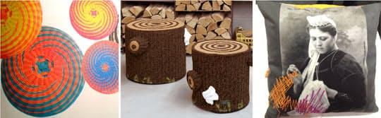 Дизайнерские предметы интерьера: плетёные табуреты