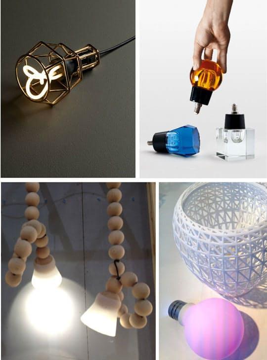 Дизайнерские предметы интерьера: оригинальные лампочки