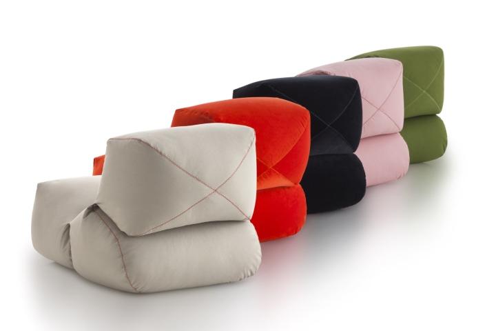 Мягкие дизайнерские пуфы от компании GANDIABLASCO