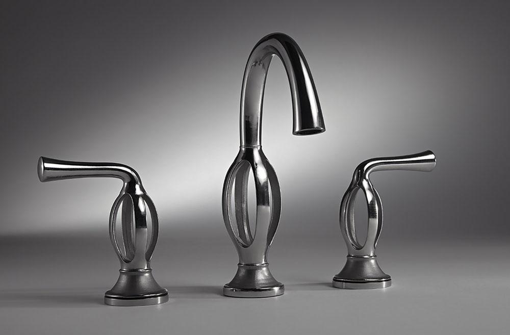 Дизайнерские смесители в ванную. 3D смеситель с 4-мя потоками воды