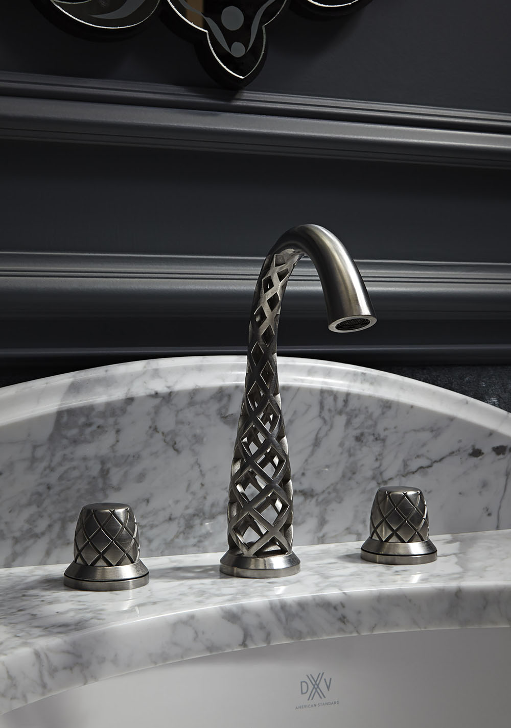 Дизайнерские смесители в ванную. 3D принты в виде решётки