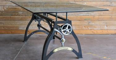 Винтажные столы с кронштейном в индустриальном стиле обновят ваш интерьер