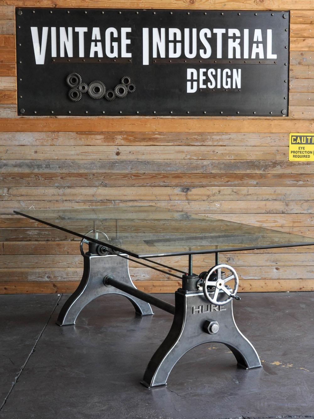 Дизайнерский стол в чёрном цвете со стеклянной столешницей - Фото 2