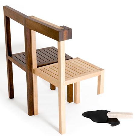 Необычная ножка у дизайнерского стула
