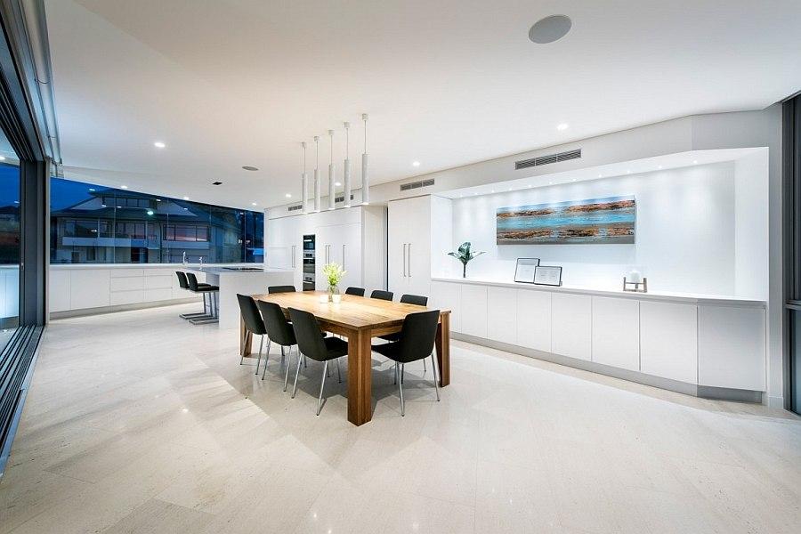 Дизайн интерьера столовой и кухни в Down Under