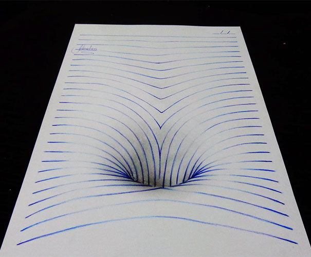 3Д эффект дыры