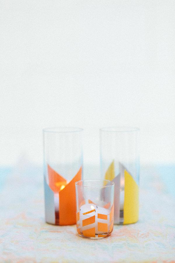 Окрашенные стаканы